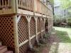Wood & Lattice Second Story Deck