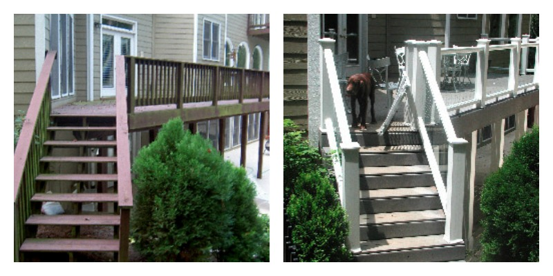 Echols Deck Before & After