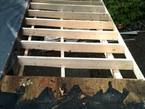 Storm damage causes partial re-roof